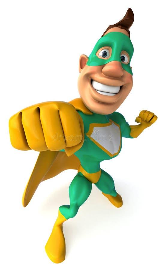 Super-herói verde ilustração do vetor