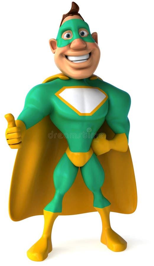 Super-herói verde ilustração royalty free