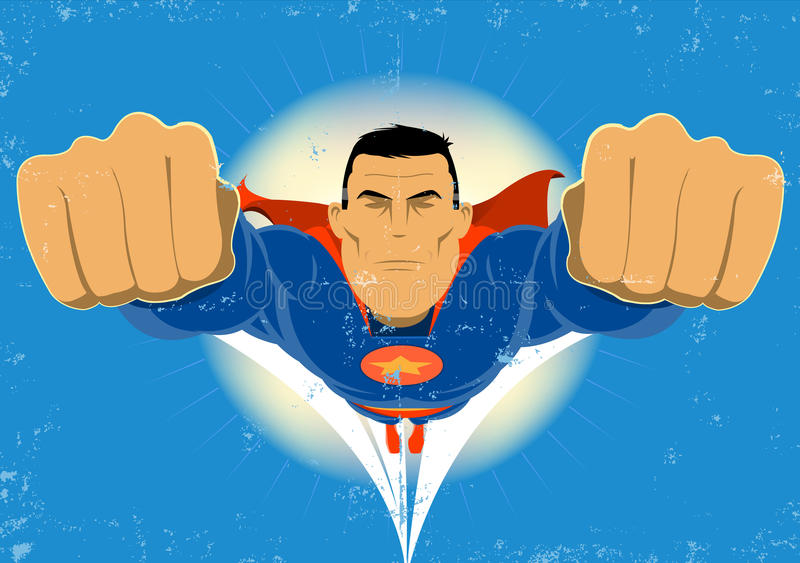 Download Super Hero stock illustration. Illustration of costume - 19609395