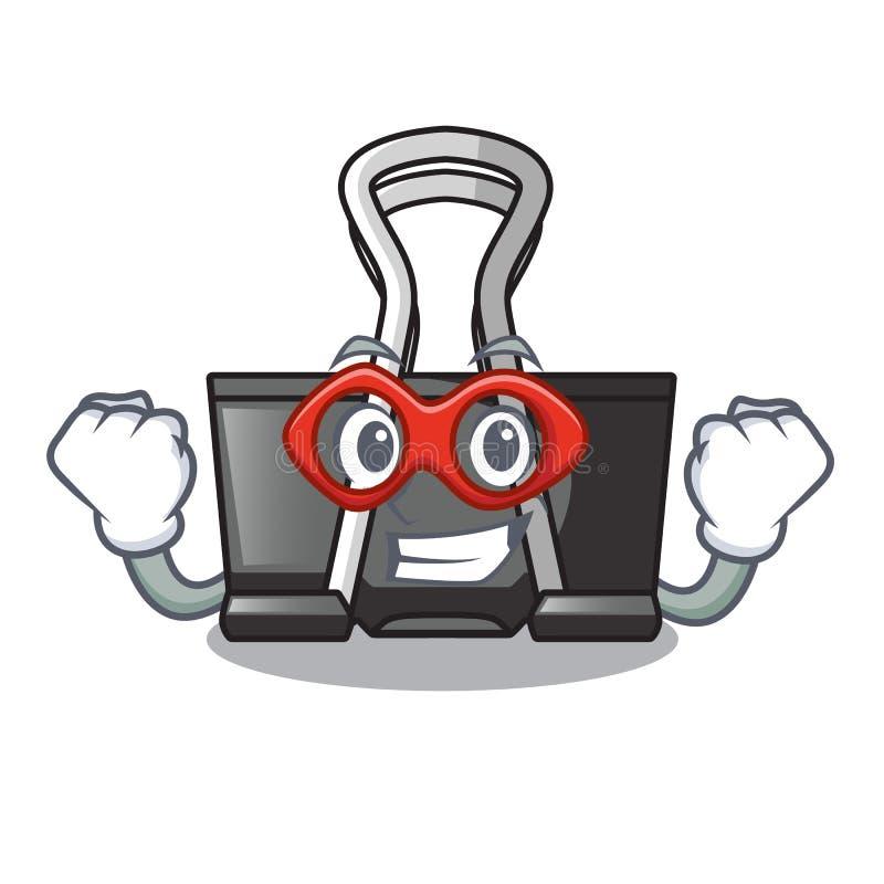 Super hero binder clip isolated on the cartoon. Vector illustration royalty free illustration