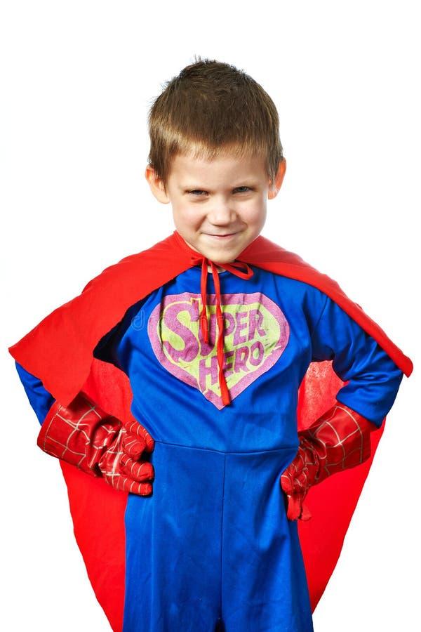 Super Hero Boy isolated. On white background royalty free stock photos