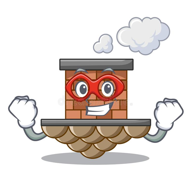 Super hero brick chimney isolated in the character royalty free illustration