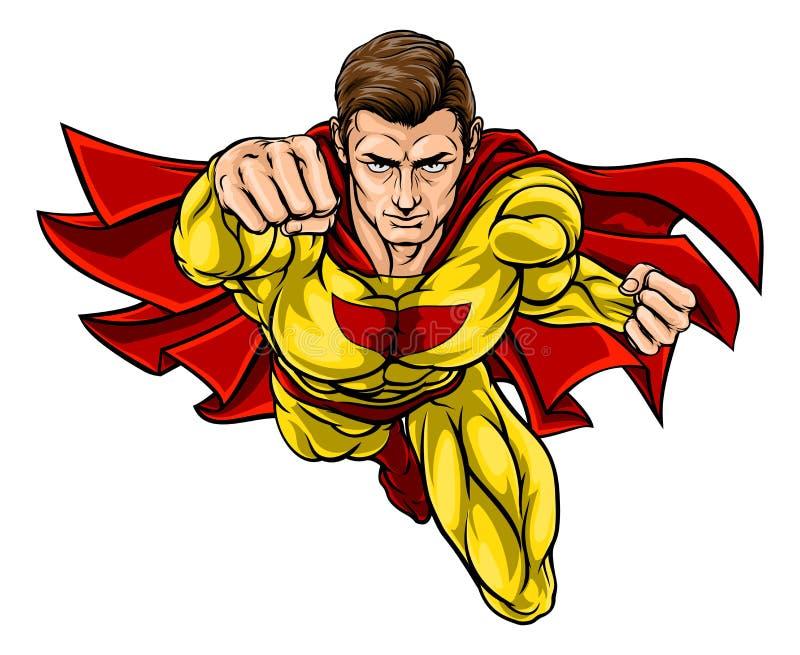 Super Hero. In a cartoon pop art comic book style vector illustration