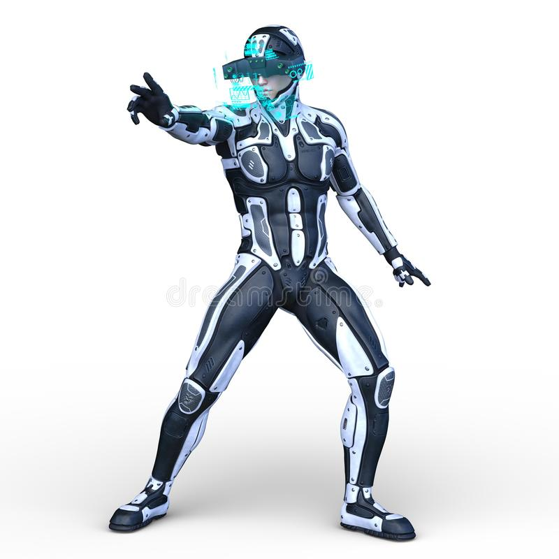 Super hero. 3D CG rendering of a super hero vector illustration