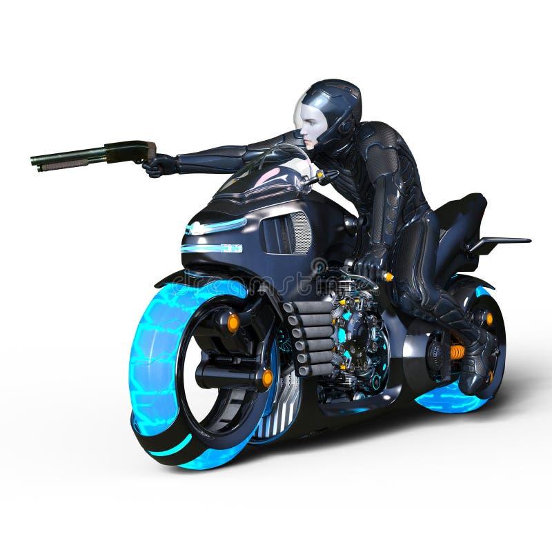 Super hero. 3D CG rendering of a super hero stock illustration