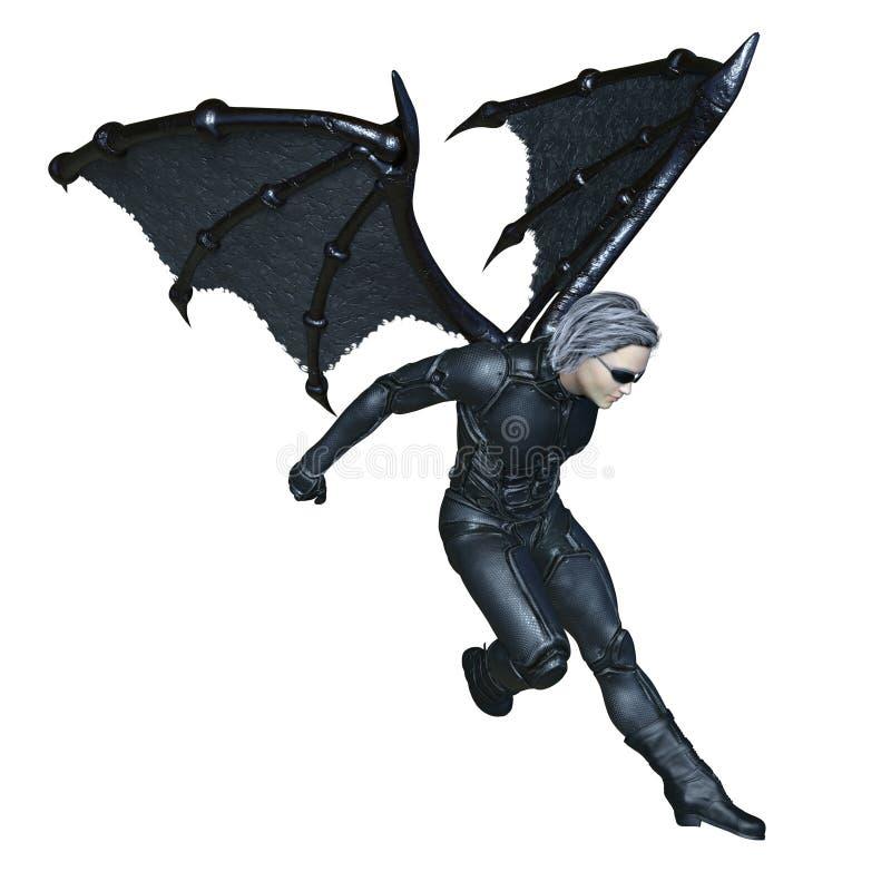 Super hero. 3D CG rendering of a super hero royalty free illustration