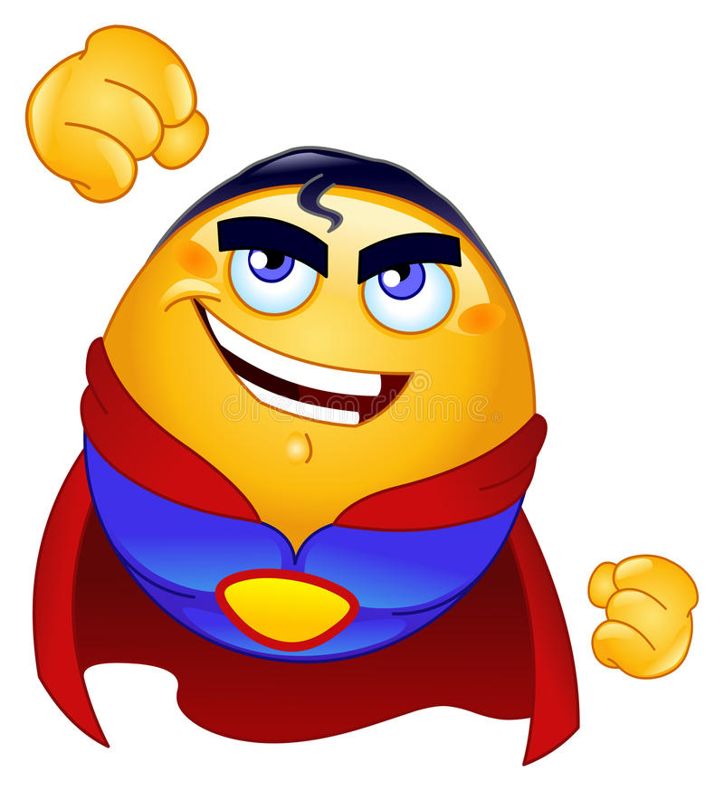 Free Super Hero Emoticon Stock Photo - 17346260