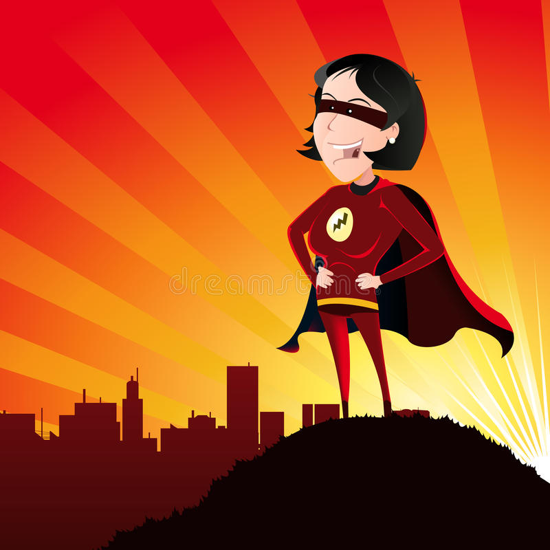 Super Hero - Female stock illustration