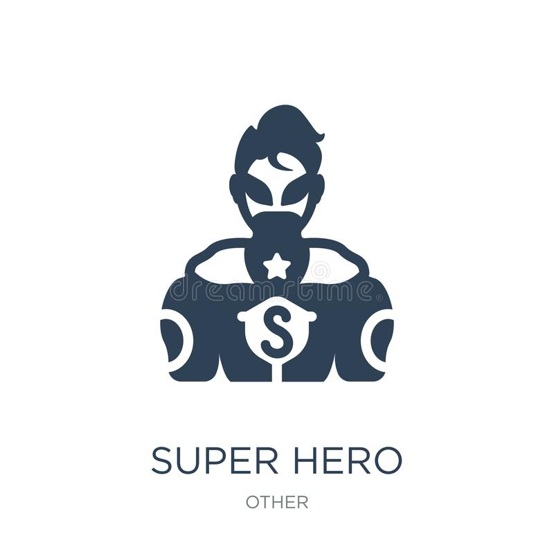 Super hero icon in trendy design style. super hero icon isolated on white background. super hero vector icon simple and modern. Flat symbol for web site, mobile royalty free illustration