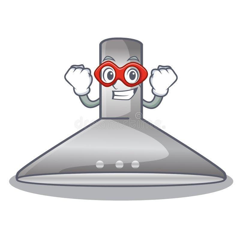 Super hero kichen hood in the mascot shape. Vector illustration vector illustration