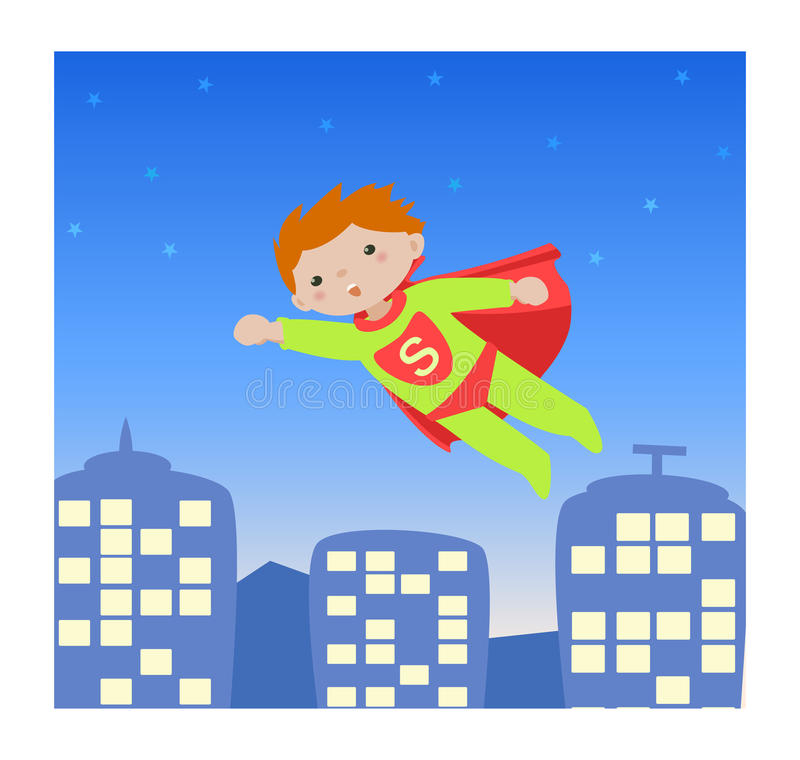 Super hero_kid I royalty free stock image
