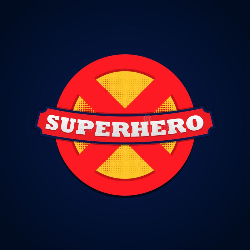 Super hero logo powerfull typography, t-shirt graphics. Vector illustration.  royalty free illustration