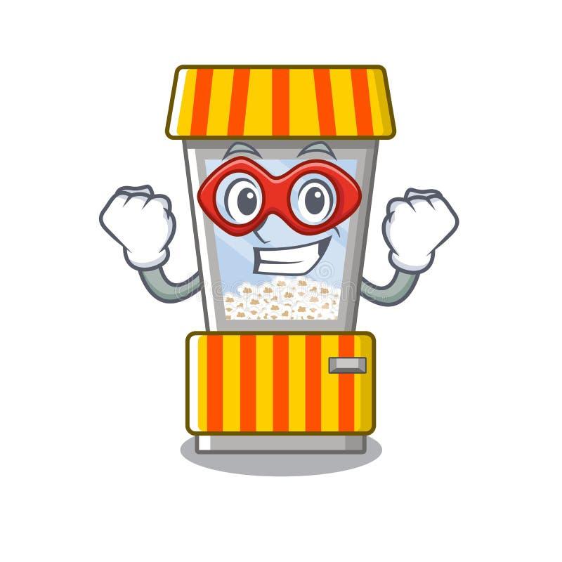 Super hero popcorn vending machine in a character. Vector illustration vector illustration