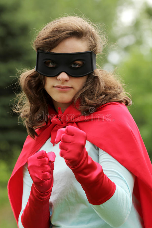 Super hero ready to fight stock images