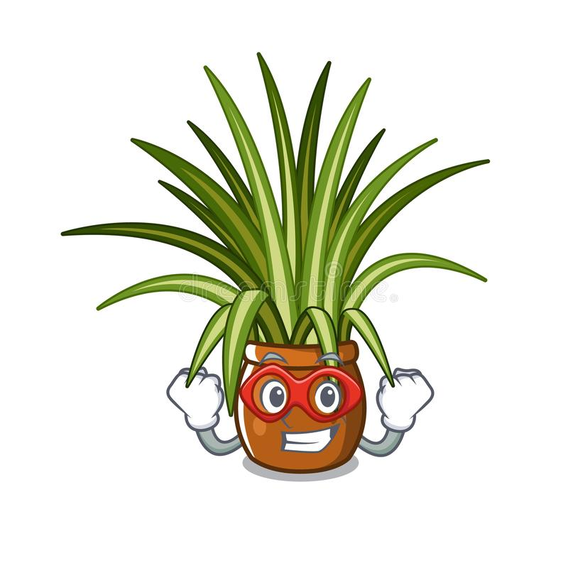 Super hero spider plant isolated with in mascot royalty free illustration