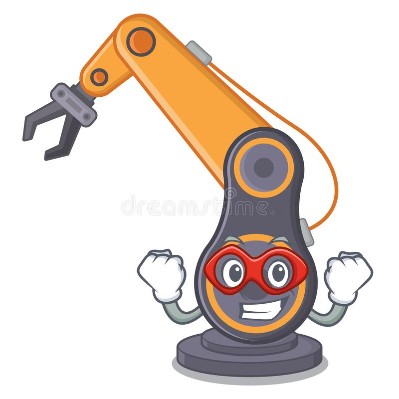 Super hero toy industrial robotic hand the a cratoon royalty free illustration