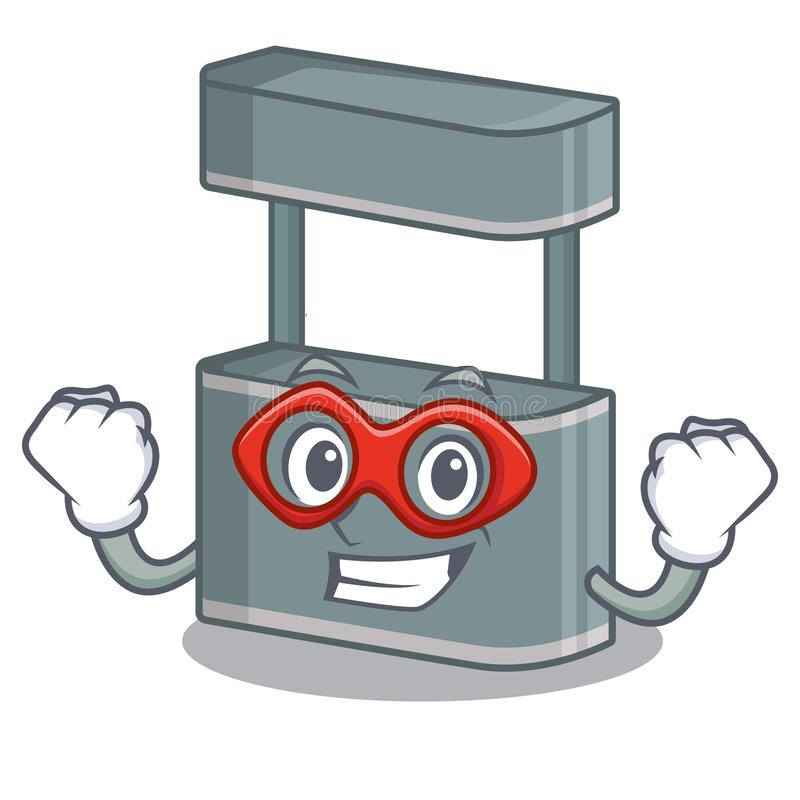 Super hero trade stand in the character shape. Vector illustraton royalty free illustration
