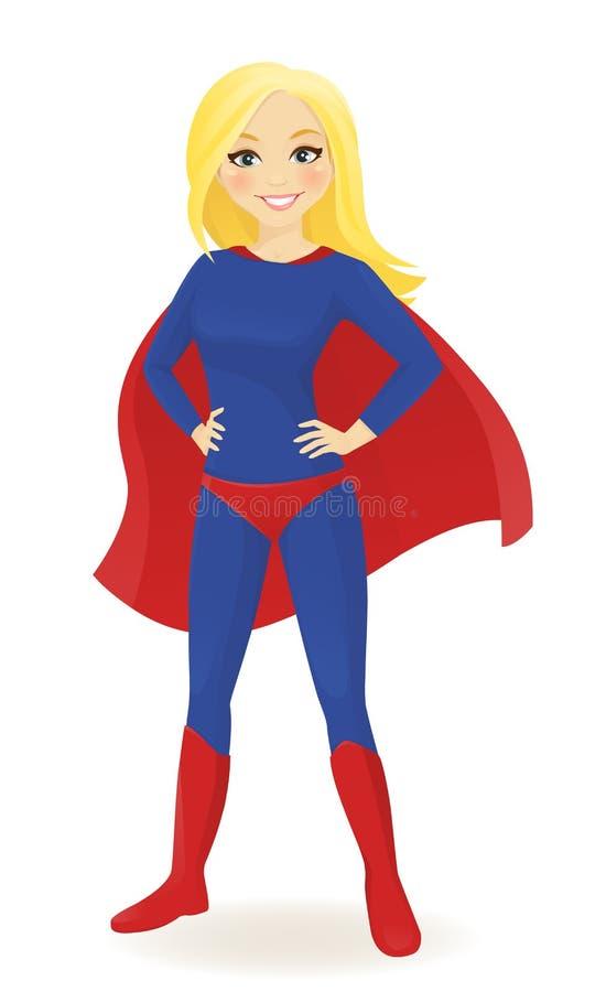 Super hero woman stock illustration