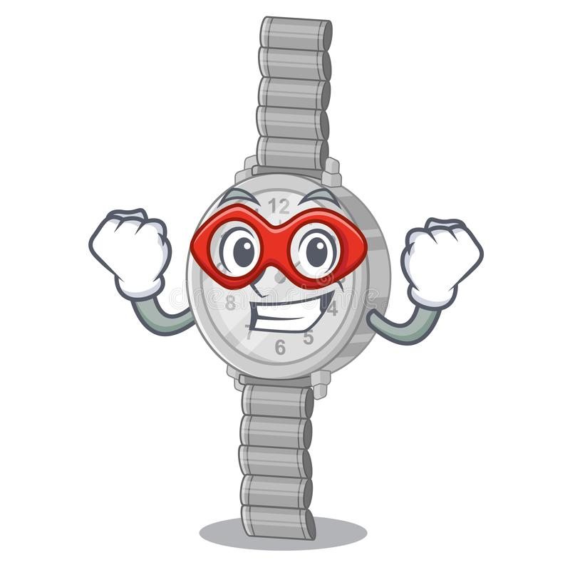Super hero wristwatch in the a character shape royalty free illustration