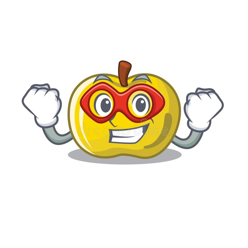 Super hero yellow apple in the character shape royalty free illustration