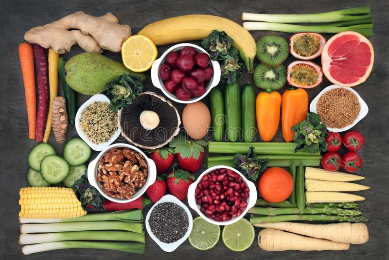 Super jedzeń zdrowie na dobre zdjęcie royalty free