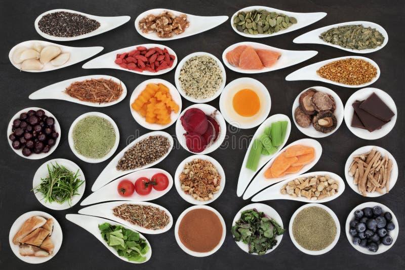 Super jedzenie dla Promować Móżdżkową władzę obrazy royalty free