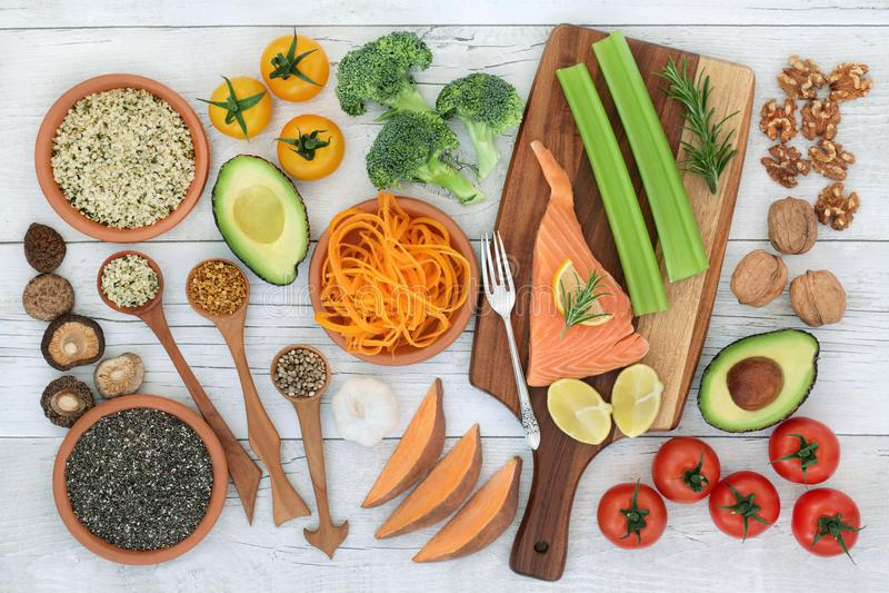 Super jedzenie dla Promować Móżdżkową władzę obraz royalty free