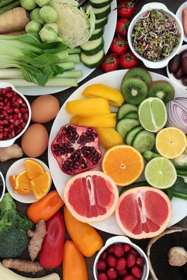 Super jedzenie dla Zdrowego ?asowania zdjęcie stock
