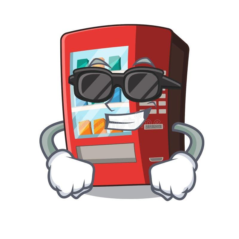 Super k?hler Automat lokalisiert mit dem Maskottchen stock abbildung