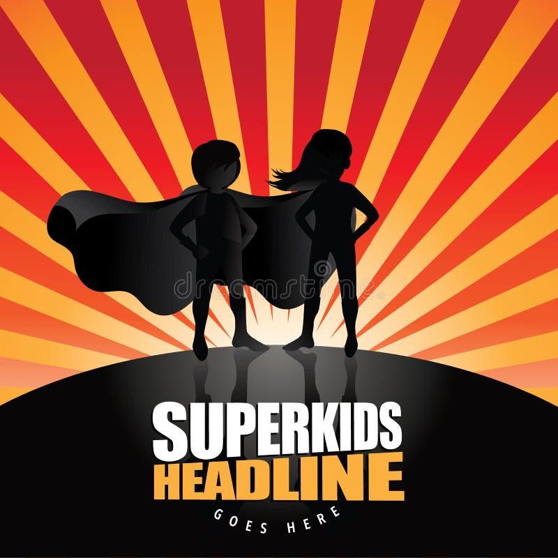 Super kids burst background with copy space royalty free illustration