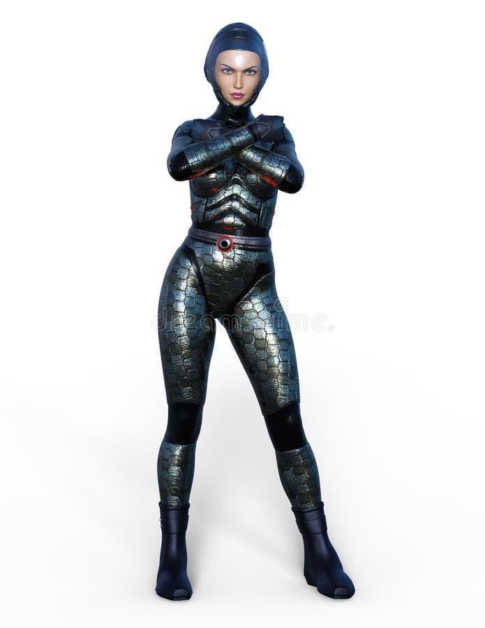 Super kobieta ilustracja wektor