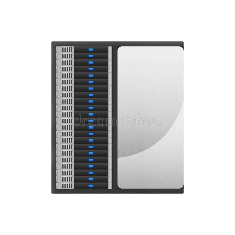 Super komputer jest sieci serwerem dla składowych dane i szybkiego proca ilustracji