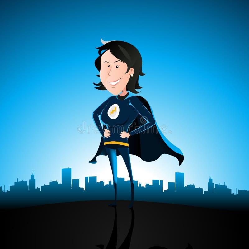 super kreskówki błękitny dama ilustracja wektor