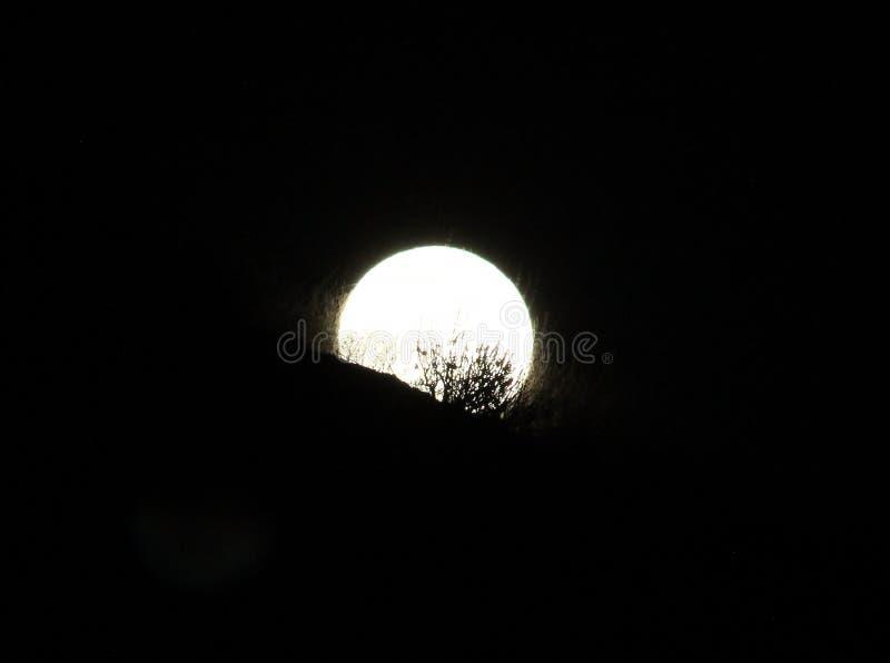 Super księżyc obraz stock