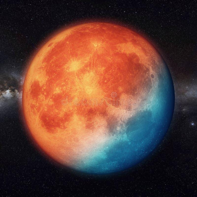 Super księżyc realistyczna z rozjarzonym światłem ilustracja wektor