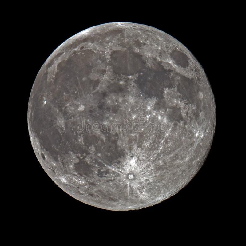 Super księżyc w pełni fotografia stock