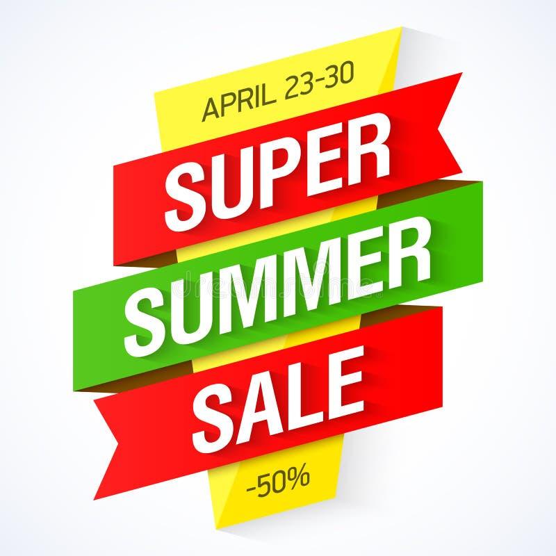 Super lato sprzedaży sztandar ilustracji