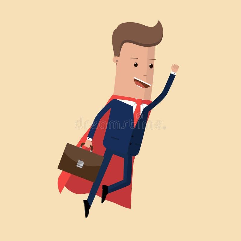 Super lider i super biznesmen również zwrócić corel ilustracji wektora royalty ilustracja