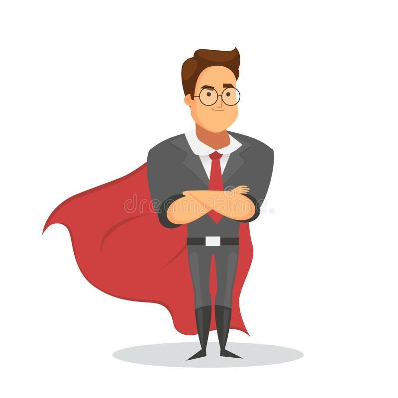 Super lider lub super biznesmena charakter odizolowywający na białym tle ilustracja wektor