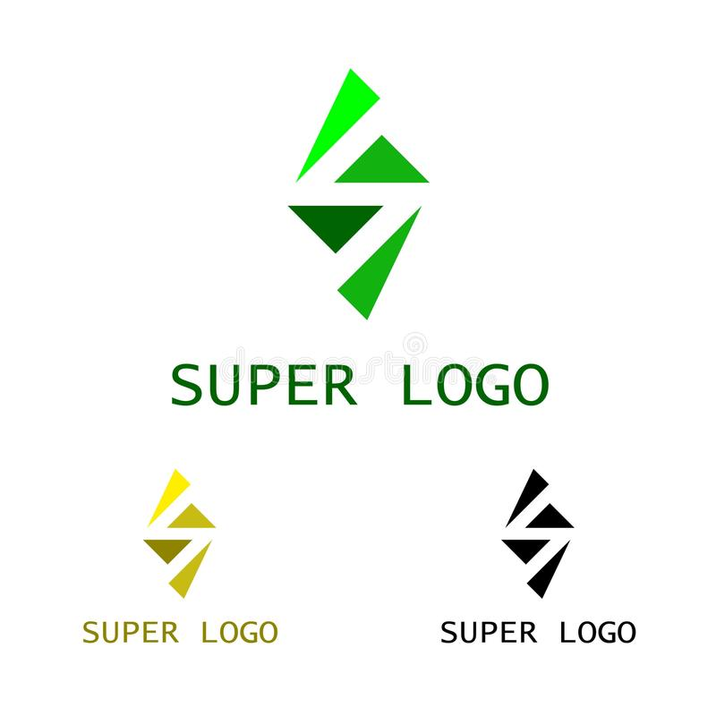 Super Logo template stock illustration