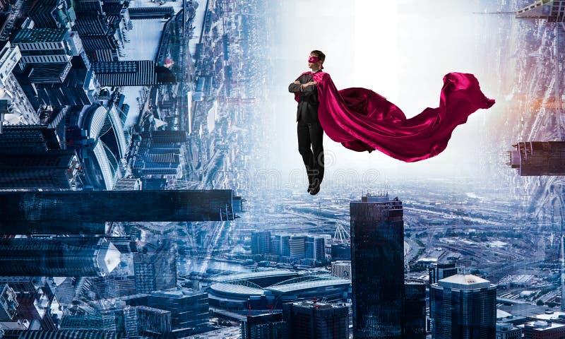 Super mężczyzna w niebie ilustracji