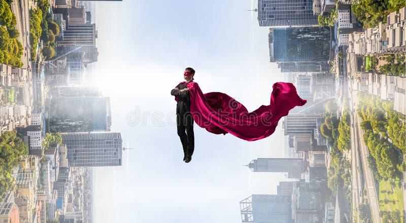 Super mężczyzna w niebie ilustracja wektor