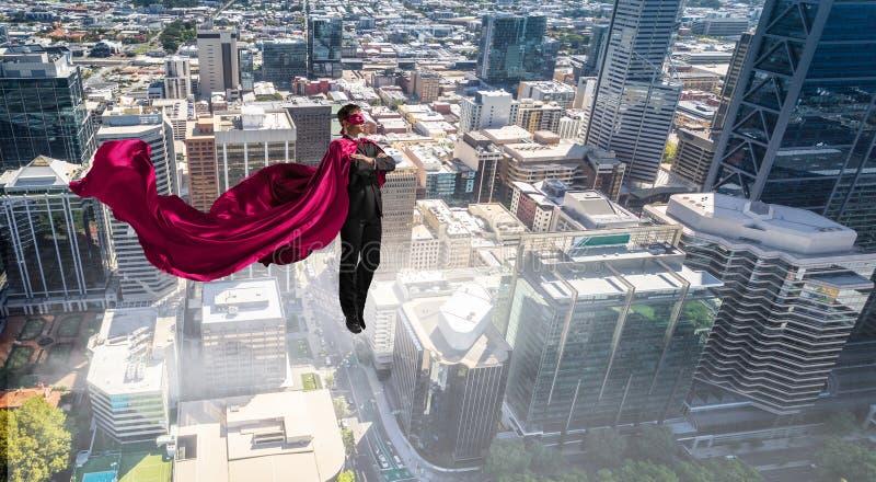Super mężczyzna w niebie obrazy royalty free