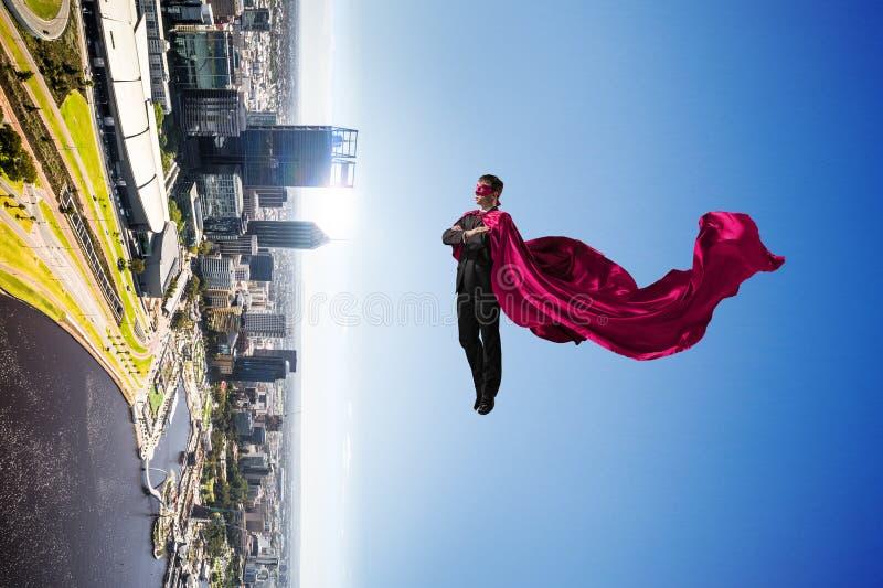 Super mężczyzna w niebie obraz royalty free