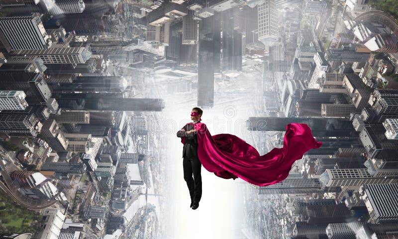 Super mężczyzna w niebie obraz stock