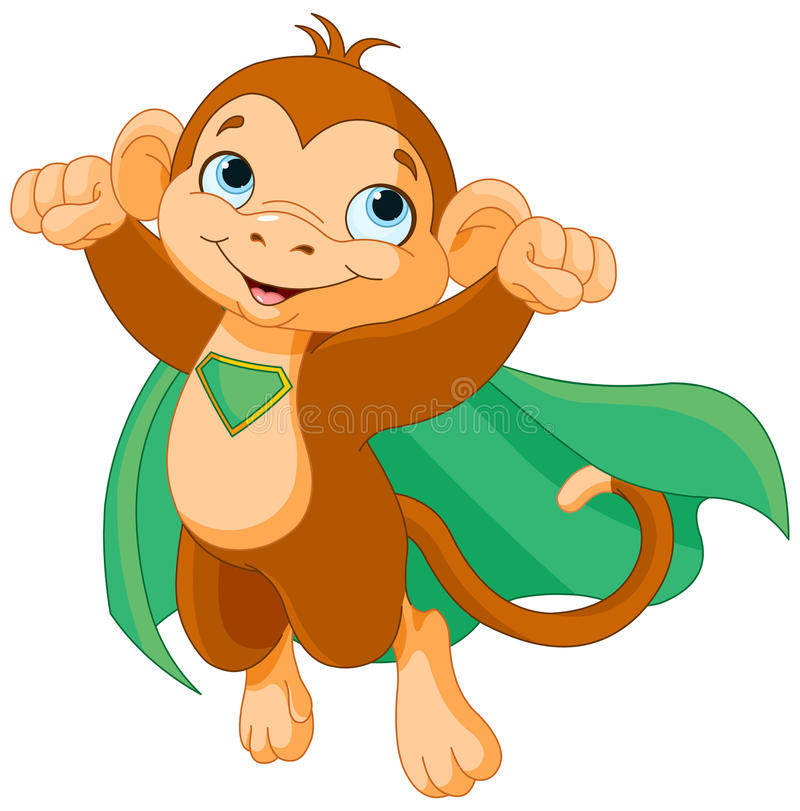 Super małpa ilustracji