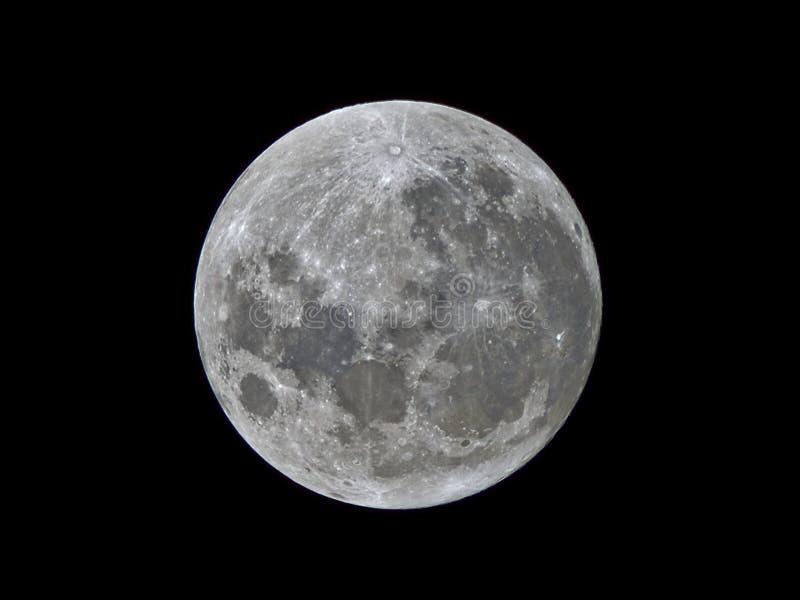 Super maan 2017 stock afbeeldingen