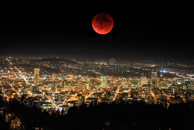 Super maan royalty-vrije stock afbeelding
