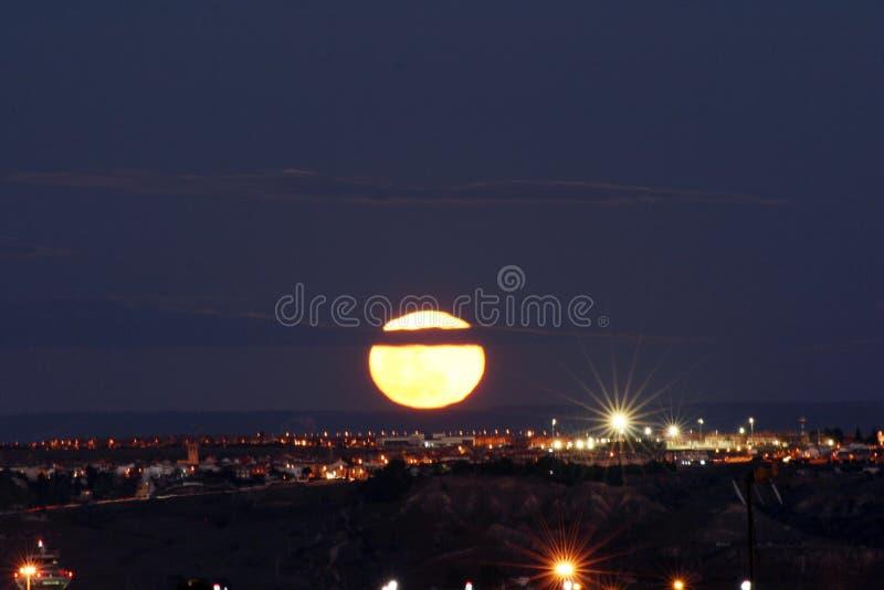 Super maan in Madrid royalty-vrije stock fotografie