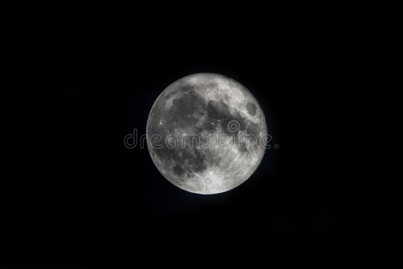 Super Maan op Nachthemel stock fotografie